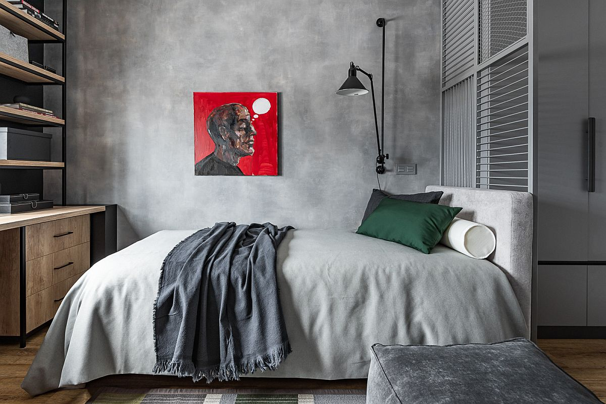 Modern teen bedroom with a touch of industrial charm and minimal appeal