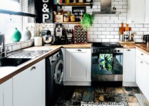 Reclaimed-wood-floor-and-white-cabinets-combined-elegnatly-in-this-small-eclectic-kitchen-37269-217x155