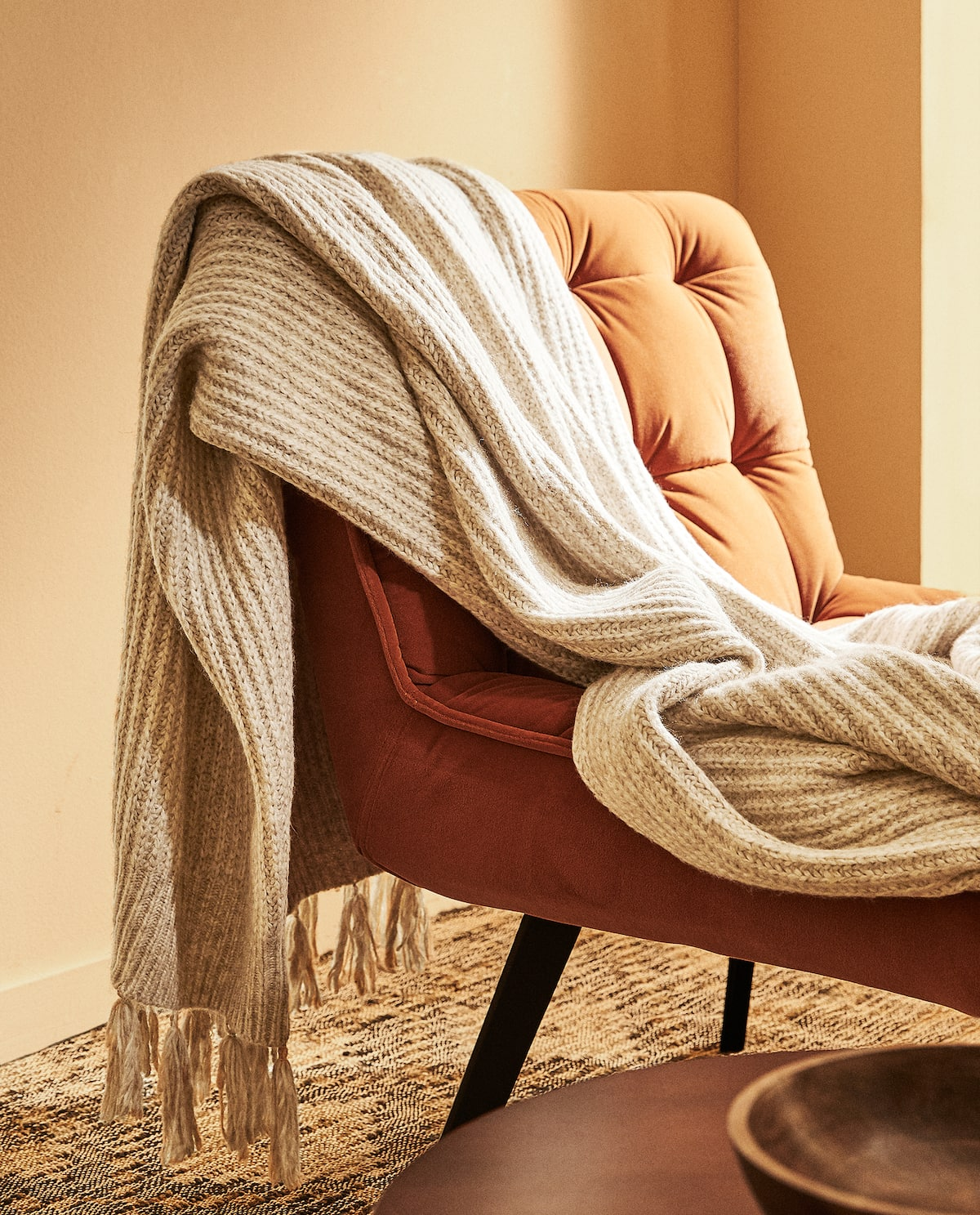 Ribbed knit blanket from Zara Home