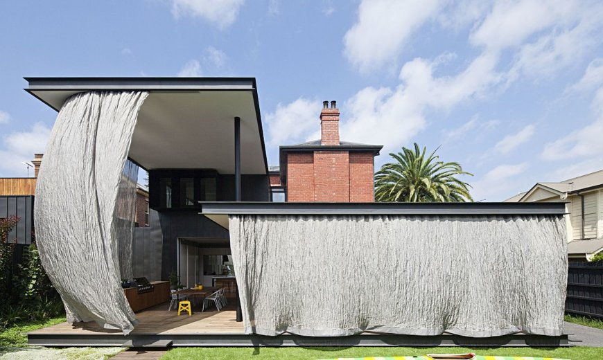Adaptive Series of Canopies Bring Shade to Revamped Victorian Heritage Villa