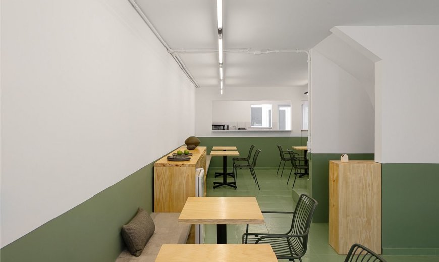 For Those Who Love All Things Green: Minimal Modern Restaurant in Sao Paulo