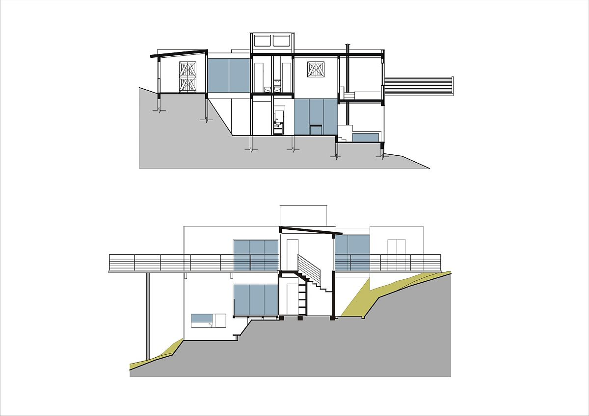 Site plan of the Walkway House in Brazil