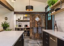 Sliding-barn-style-door-for-the-small-industrial-pantry-in-the-spacious-modern-kitchen-96019-217x155