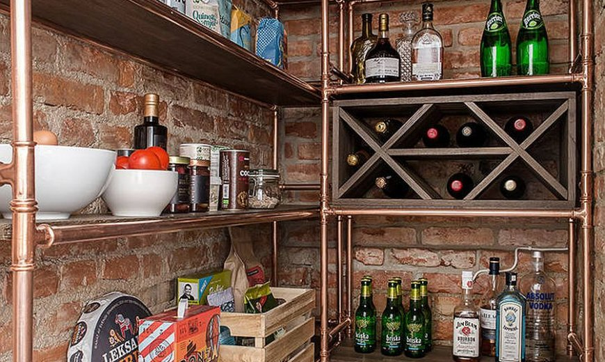 Industrial Style Pantry Ideas Save Space with Smart Functionality