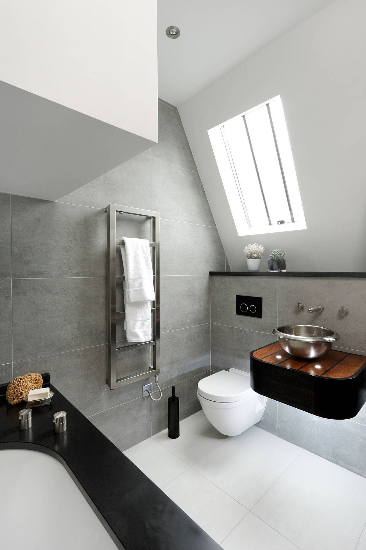Sophisticated-contemporary-bathroom-in-gray-and-white-inside-modern-London-home-17829