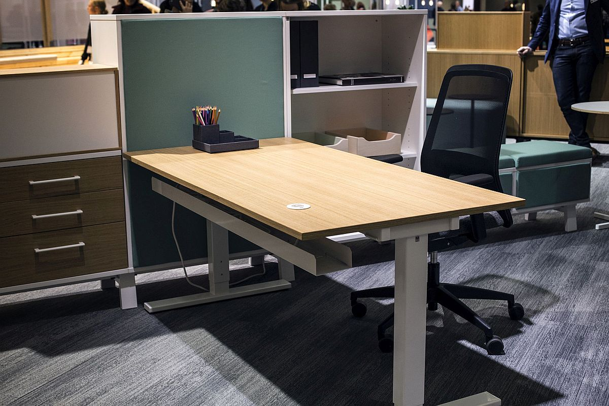 Start off with a simple desk and ergonomic chair for the home workstation