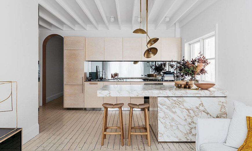 Spacious 1940's Beachside Apartment Finds New Expression with Polished Sheen