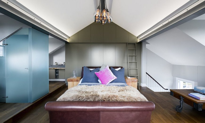 Luxurious Loft Master Suite Amazes with Brilliant Blend of Textures