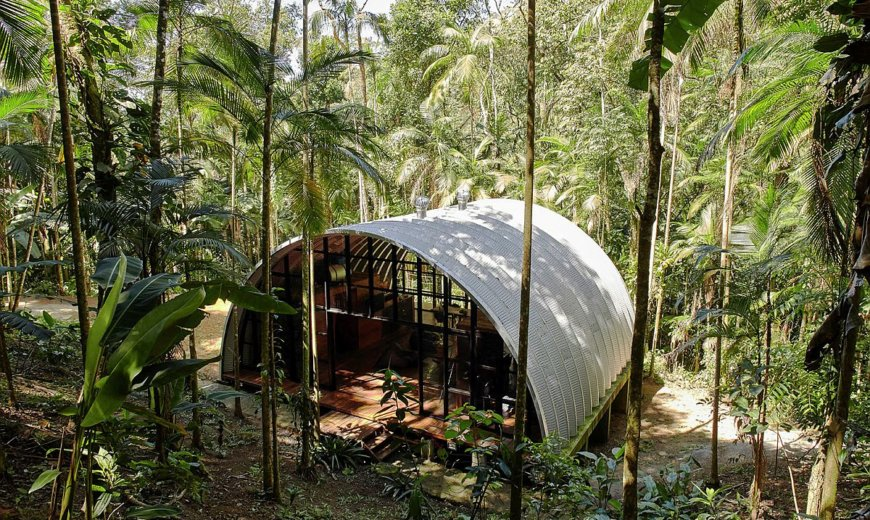 Ingenious Modular Home in Brazilian Atlantic Forest Embraces Green Living