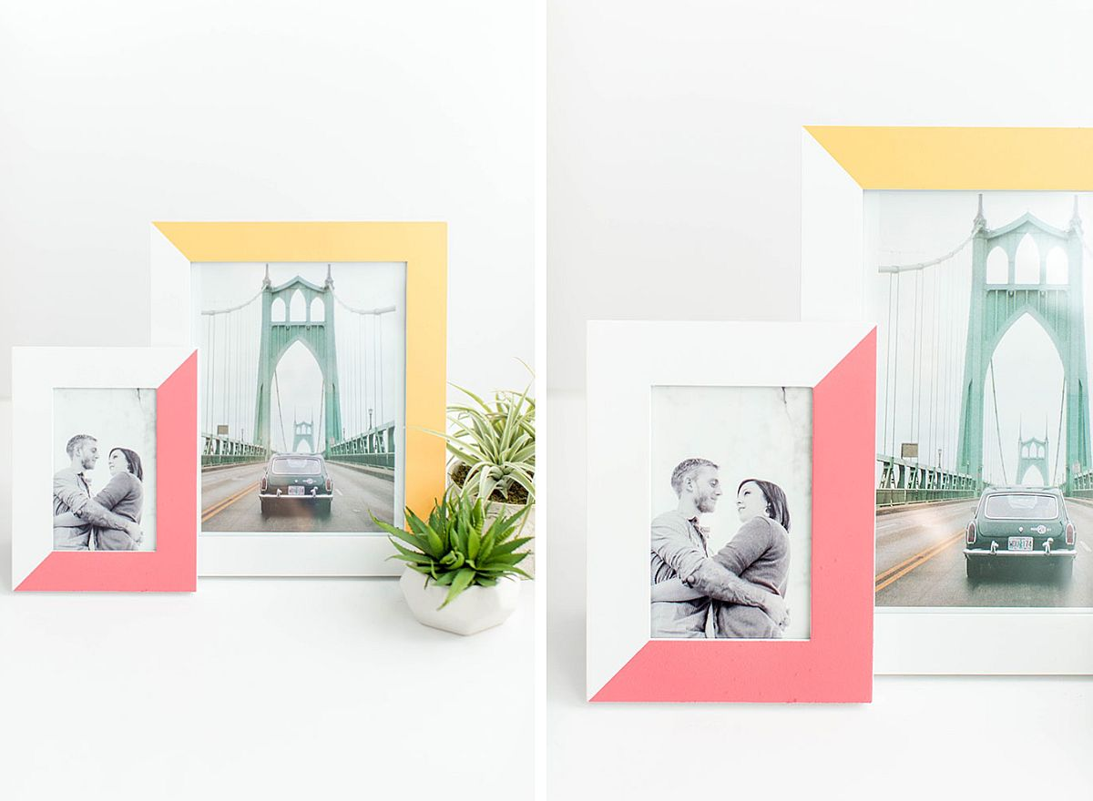 Two-tone DIY painted picture frame