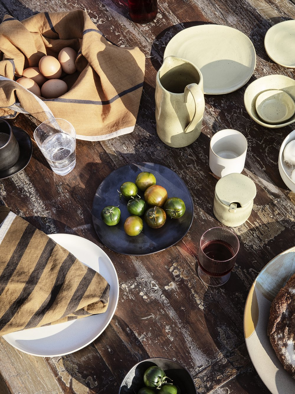 Yellow speckle dishware from ferm LIVING