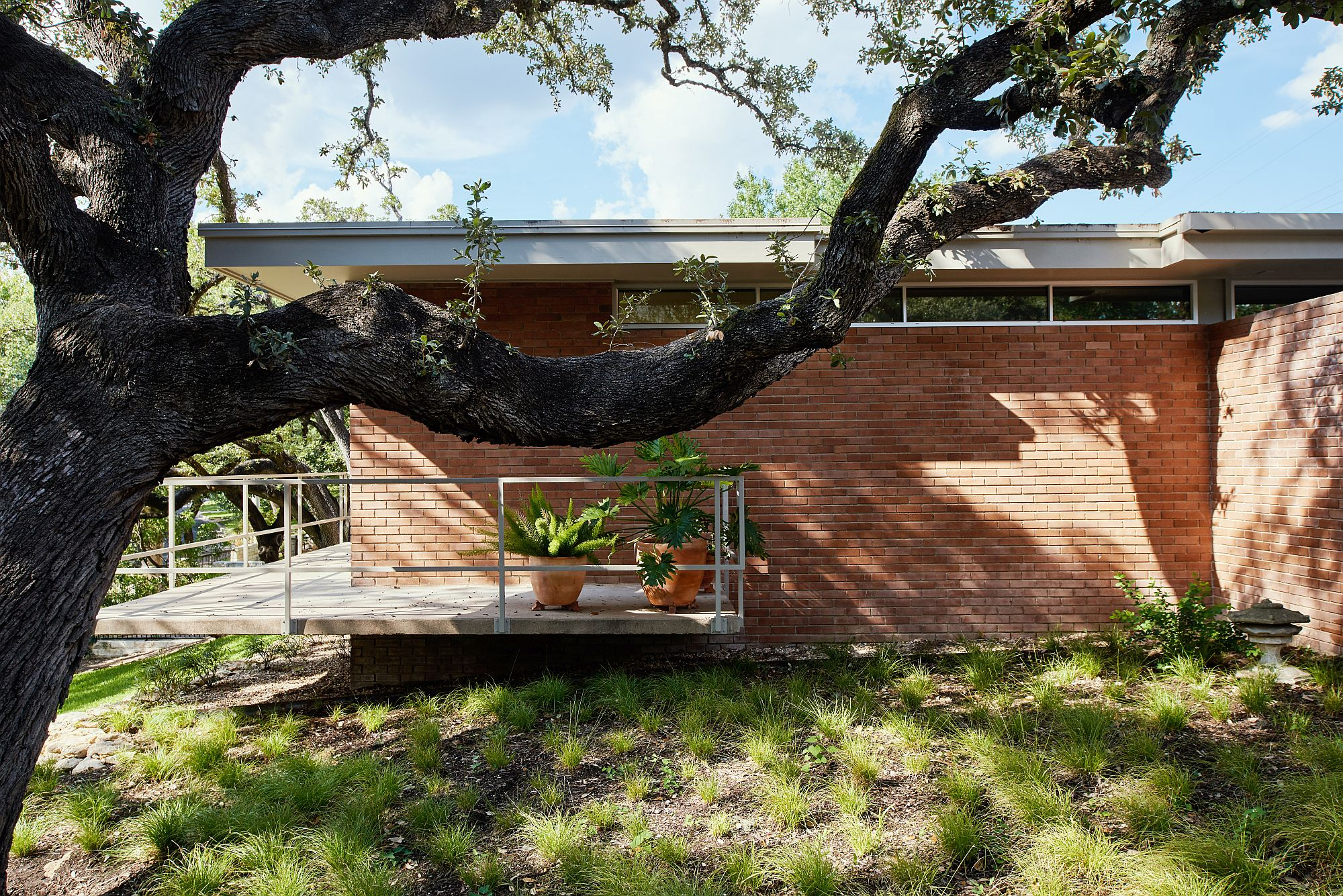 1950's Texas home renovated with midcenury modern style