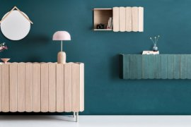 Adaptable Shelving: Trendy Trio of Modular Shelves and Cabinets All in Wood!