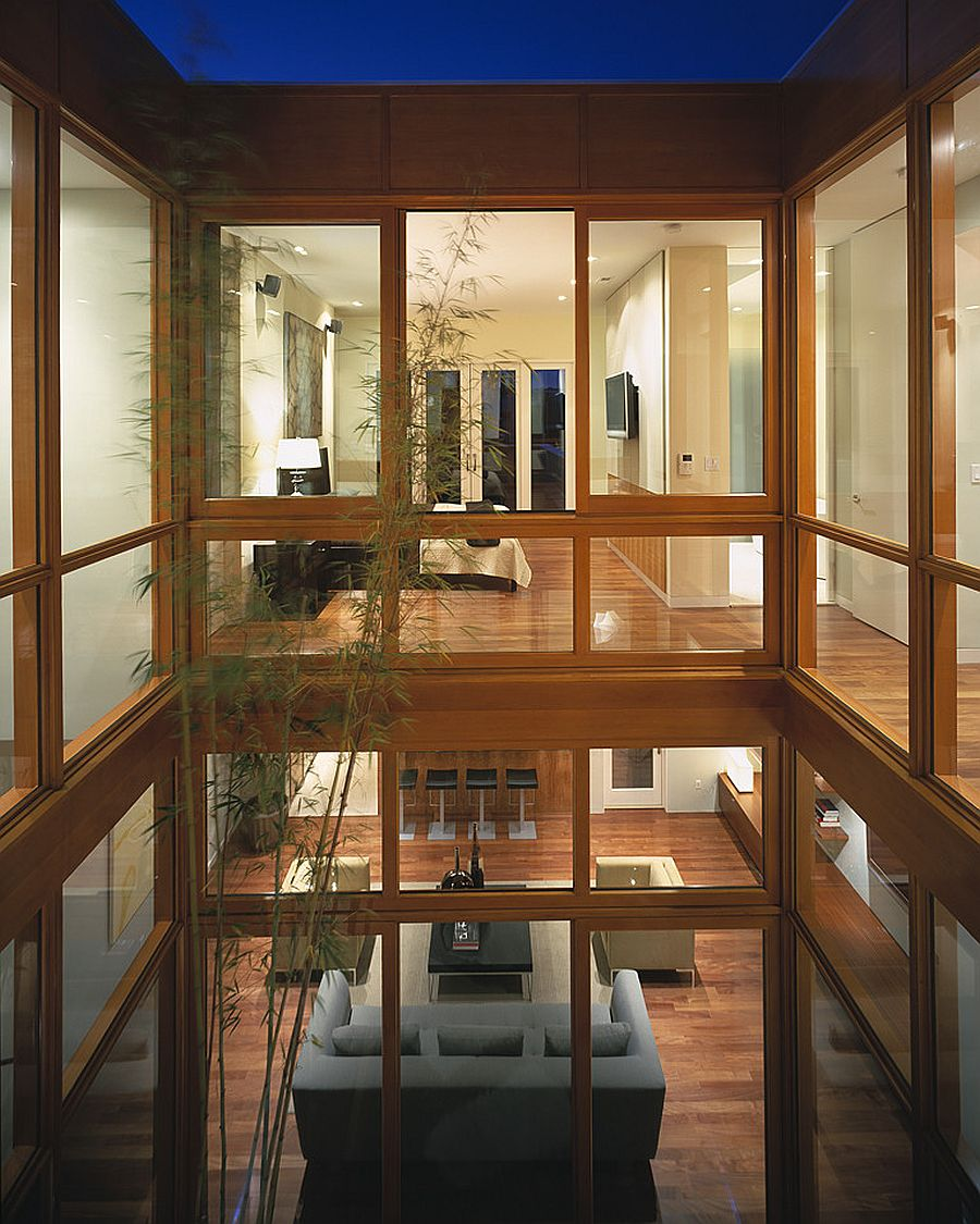 Atrium inside Sand Francisco home brings natural light into every room of the house