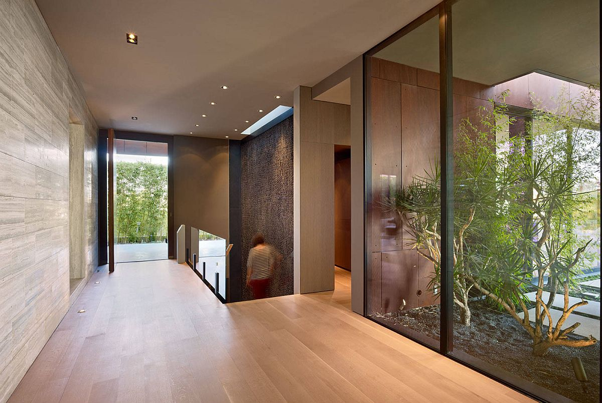 Atriums are a common feature in many midcentury modern homes
