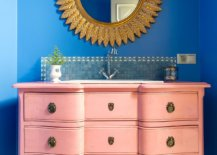 Awesome-bathroom-in-blue-with-a-light-pink-vanity-and-a-dazzling-gold-mirror-69031-217x155