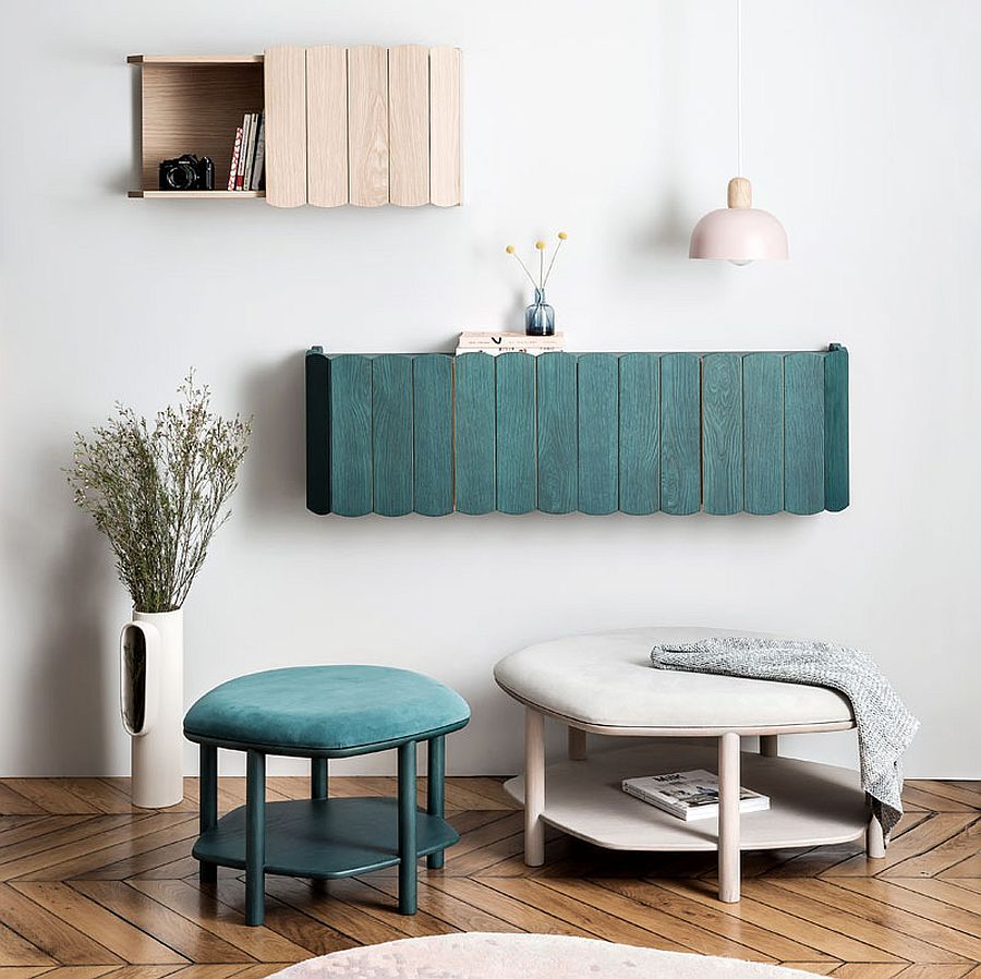 Combine César & Fanny shelves tastefully to create a fabulous focal point in the living space