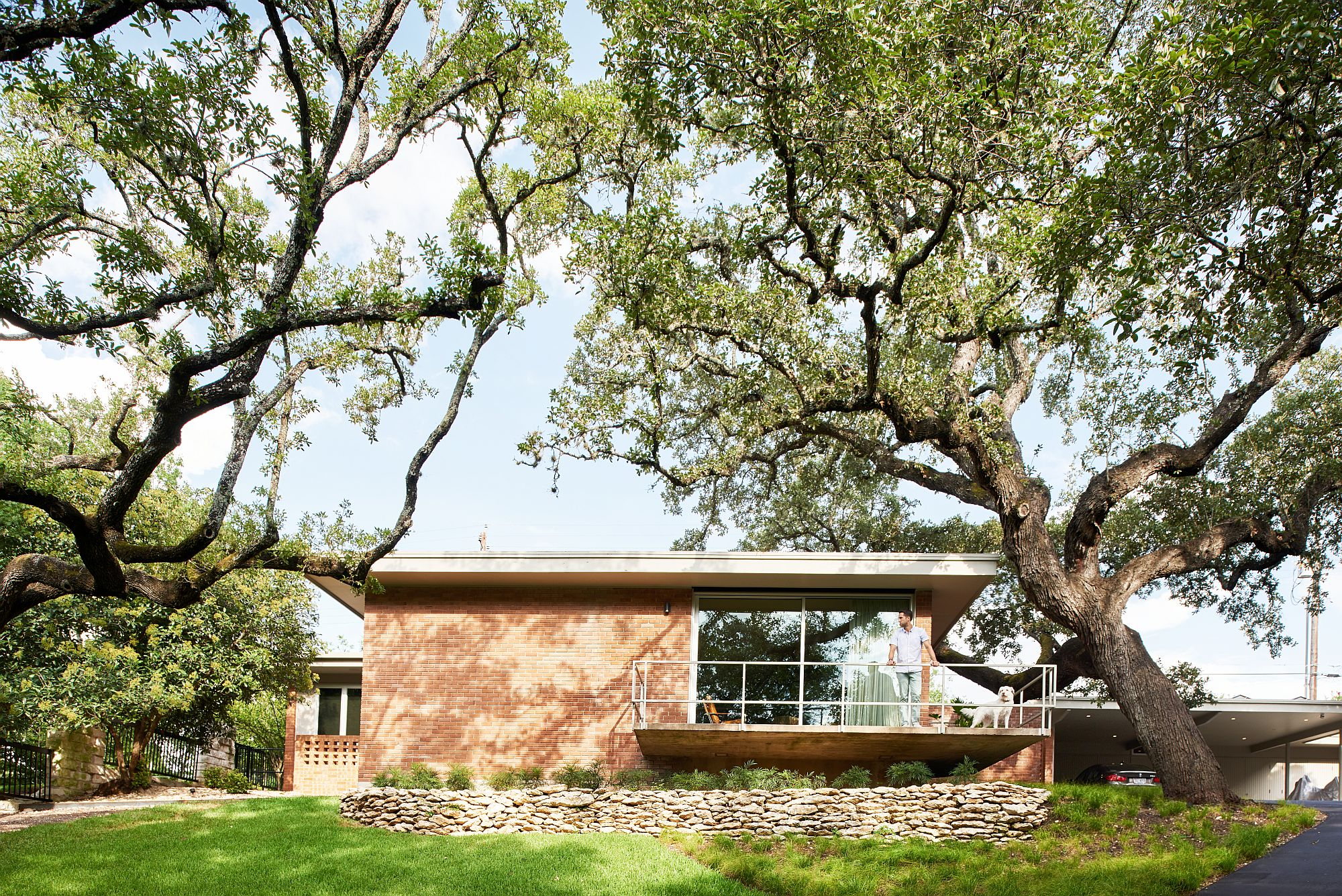 Contemporary makeover of 1950's residence on Balcones Drive in Austin, Texas