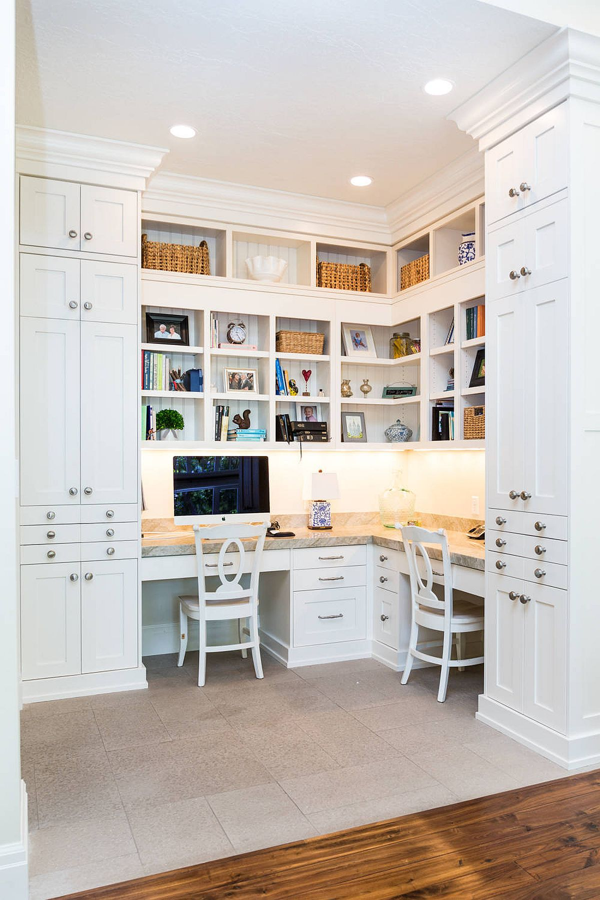 Corner spaces are a great option for the workarea for two