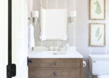 Couple-of-framed-botanical-prints-bring-color-to-this-modern-bathroom-in-neutral-hues-99771-217x155