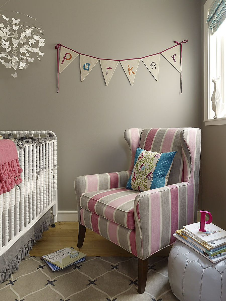 Custom-chair-with-striped-fabric-adds-color-and-contrast-to-this-contemporary-nursery-95501
