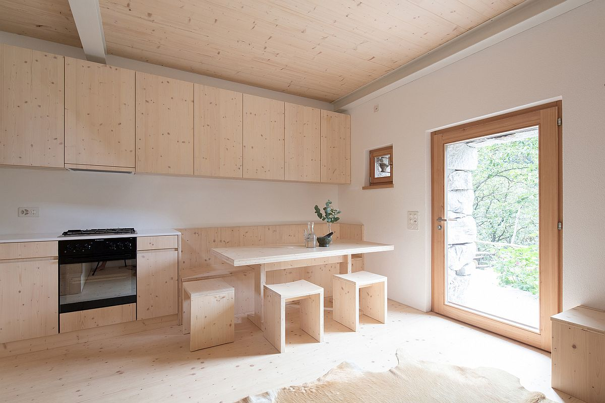 Custom-wooden-decor-inside-the-holiday-home-give-it-a-monochromatic-and-space-savvy-backdrop-86641
