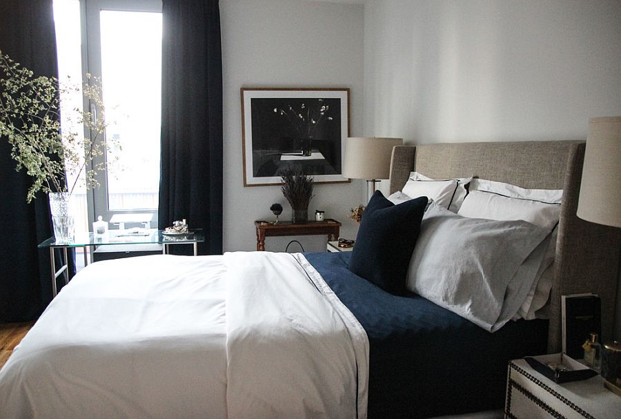 Dashing-small-contemporary-bedroom-in-navy-blue-and-white-29245