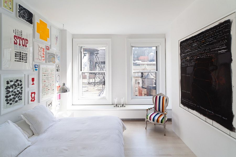 Decorating-the-small-bedroom-in-white-NYC-style-45507