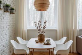 Textured Modernity: 20 Dining Rooms with White Brick Walls