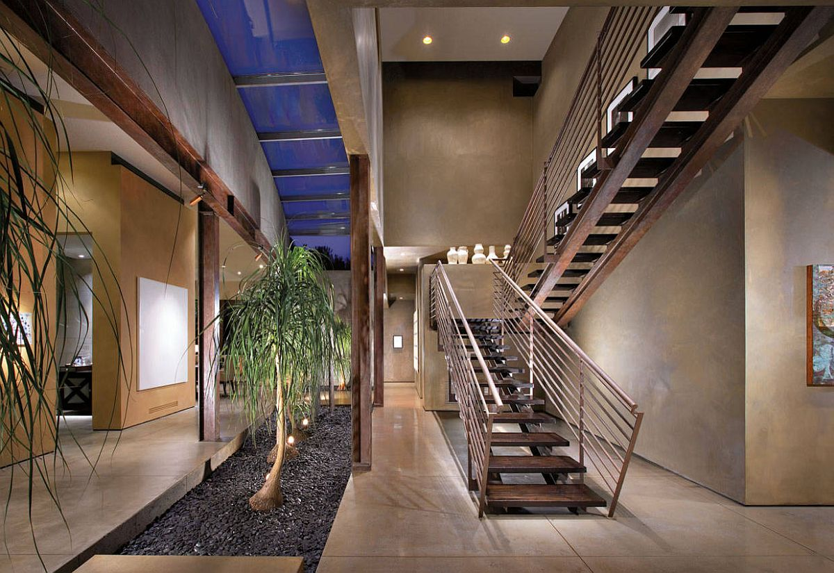 Entryway atriums need not be limited to a traditional design that demands four walls!