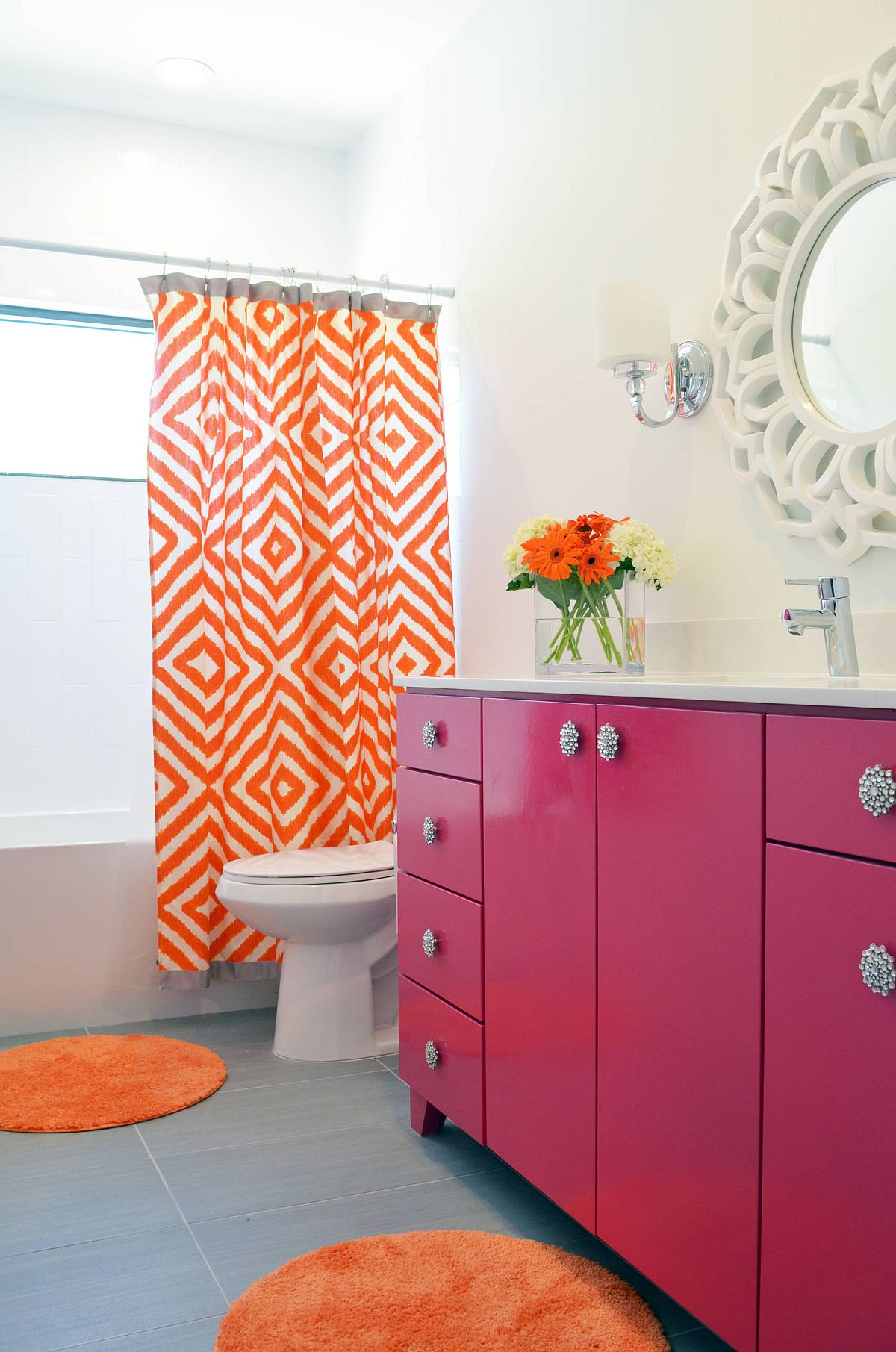 Finding the right shade of pink for your bathroom thi spring
