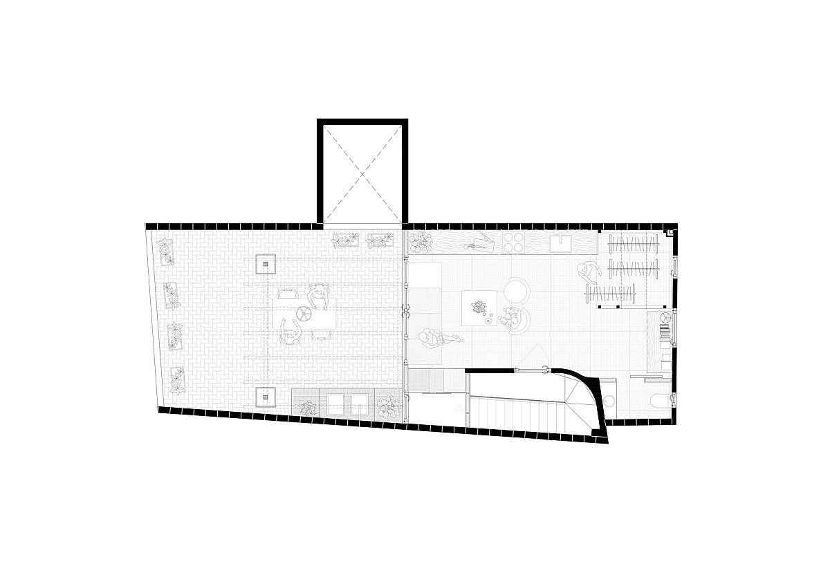 Floor plan of Small Apartment in Gracia