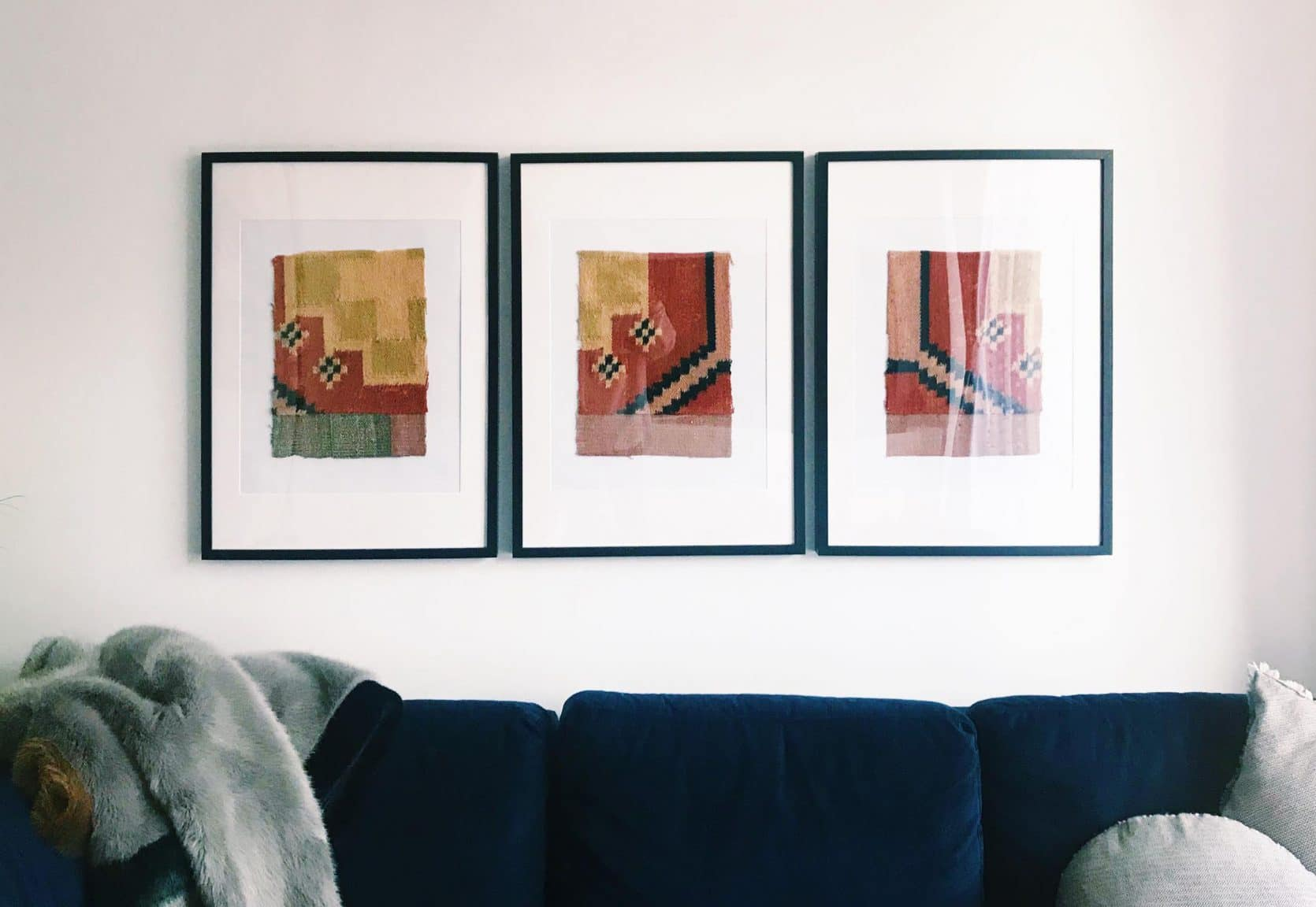 Framed pillows from Emily Funk