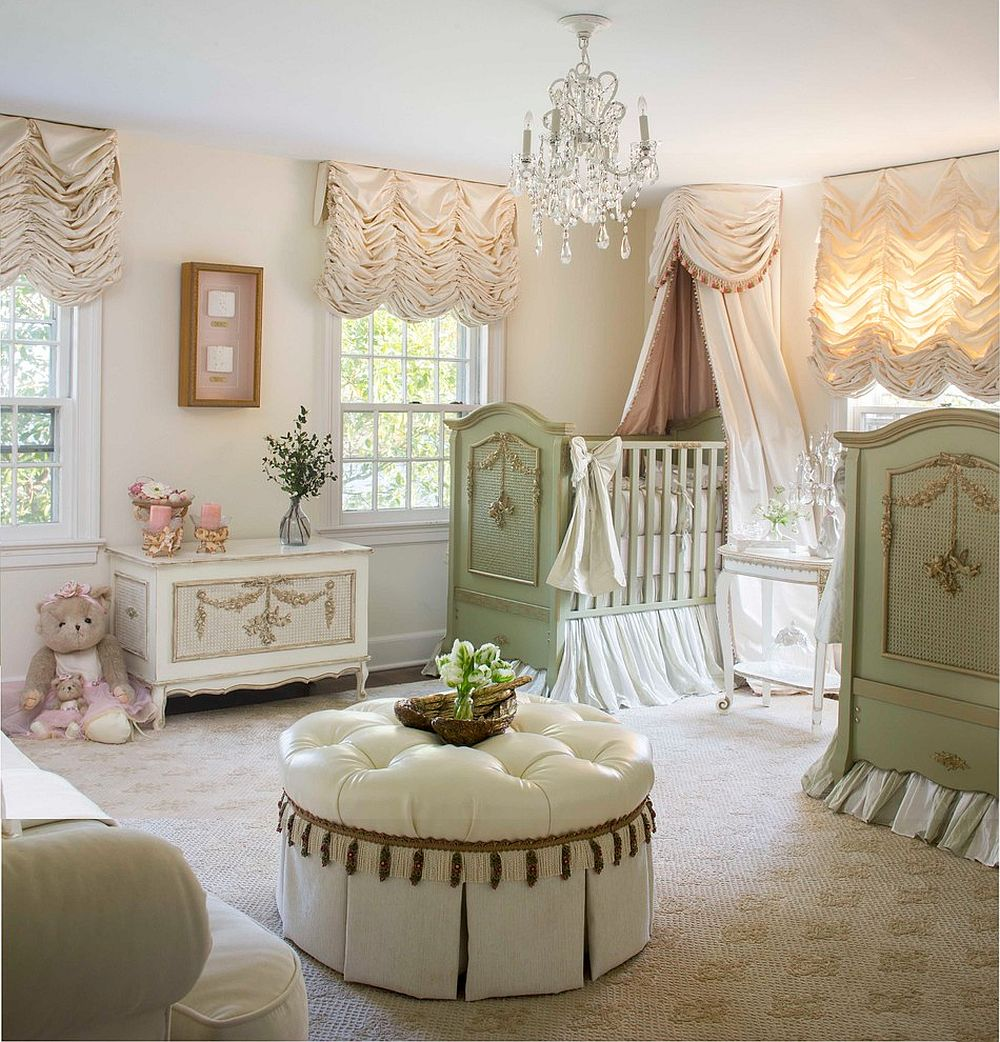 French country style combined with shabby chic panache inside the spacious nursery