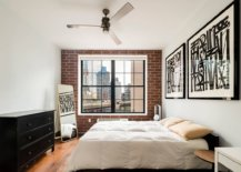 Glam-NYC-bedroom-in-white-with-chic-frame-art-workand-faux-brick-wall-55810-217x155