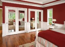 Goreous-red-and-white-modern-bedroom-with-lovely-Mirrored-closet-doors-that-steal-the-show-98744-217x155