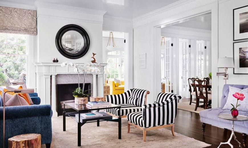 Striped Accent Chairs: 20 Ideas to Decorate with Style and Contrast