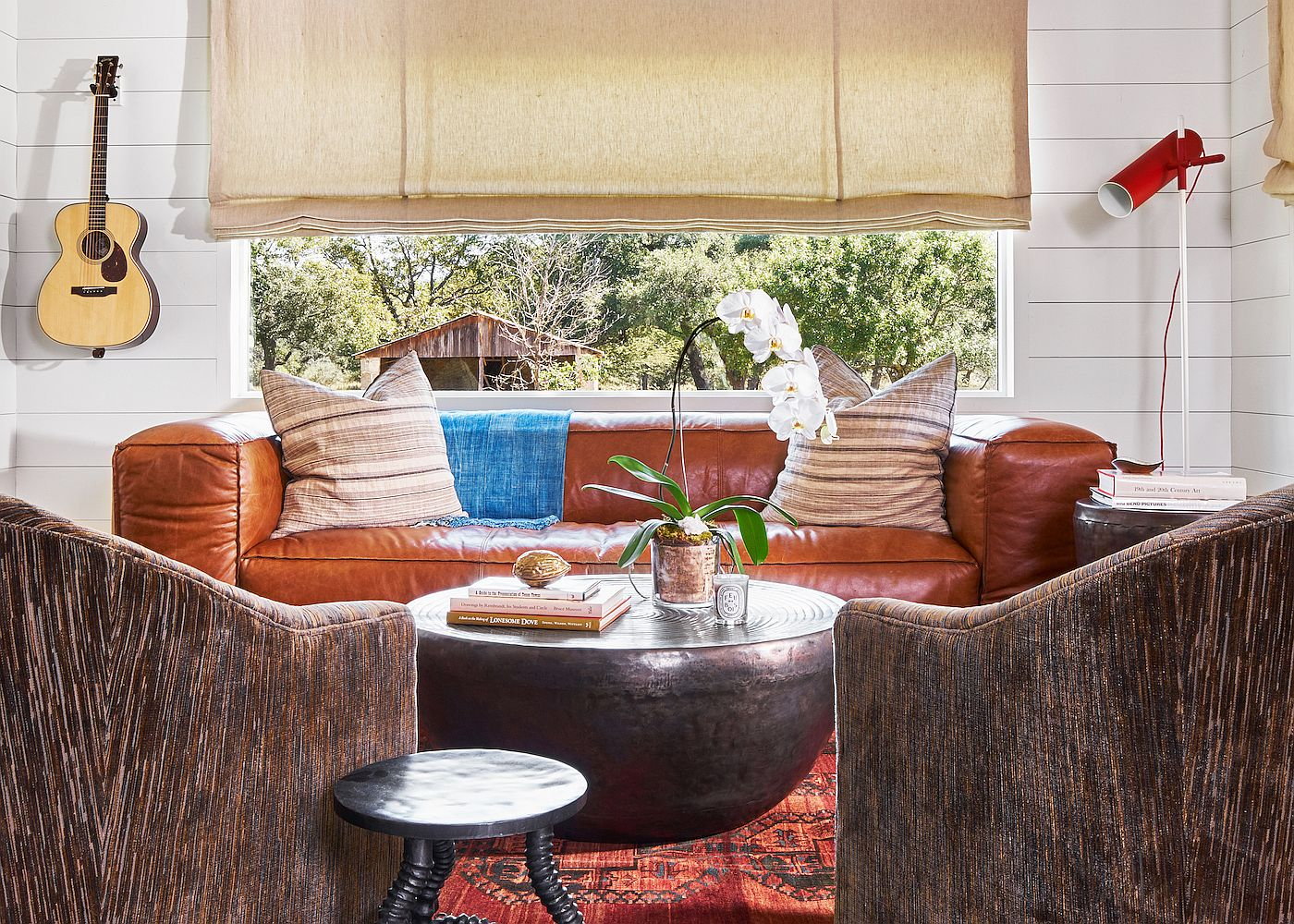 Gorgeous living room of Hill Country Retreat in Johnson City, Texas
