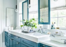 Gray-bathroom-with-blue-cabinets-mirror-frames-and-ceiling-61171-217x155