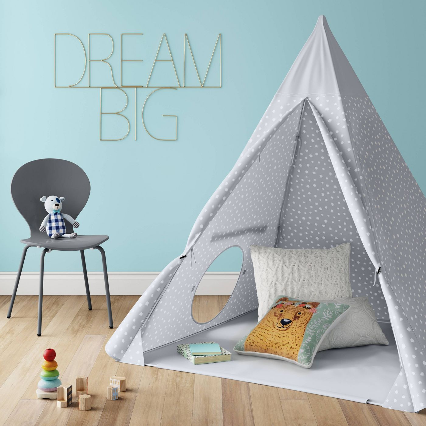 Kids' grey tent from Target