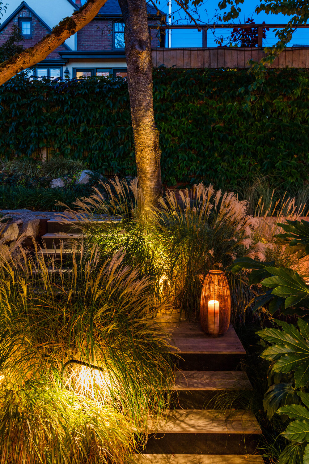 Lantern style lighting for the garden and patios around the house