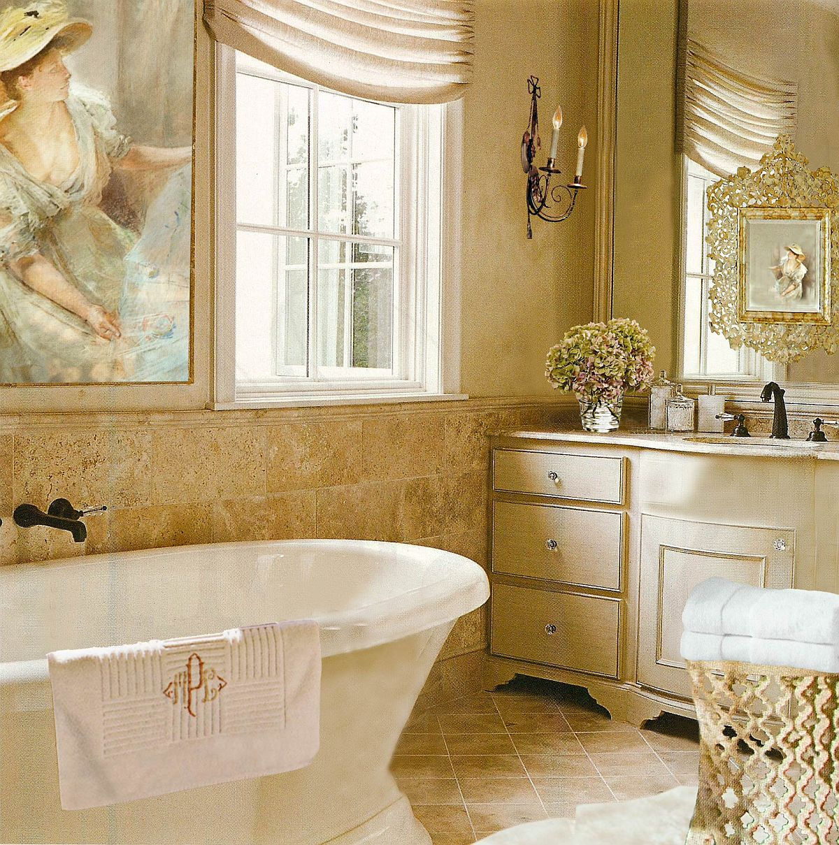 Large-wall-art-piece-and-limestone-bring-old-world-English-charm-to-this-Miami-Bathroom-17059
