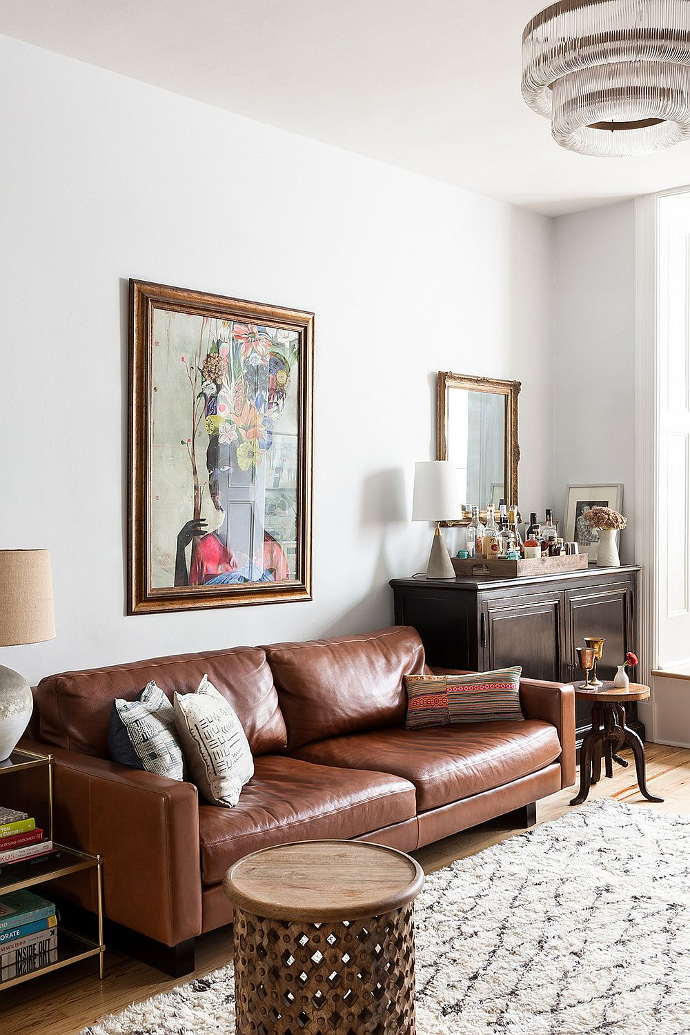 Moving around smaller decor pieces and accessories in the living room can create a whole new visual