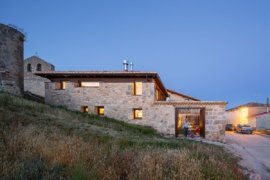 Old Shed with Stone Walls Transformed into a Fabulous Vacation Home in Spain