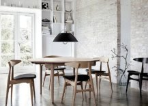 Painting-the-exposed-brick-wall-white-in-the-industrial-style-dining-rooms-with-black-chairs-97659-217x155