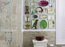 Quirky-wall-of-decoupage-plates-becomes-the-focal-point-in-this-revamped-modern-bathroom-75612-217x155
