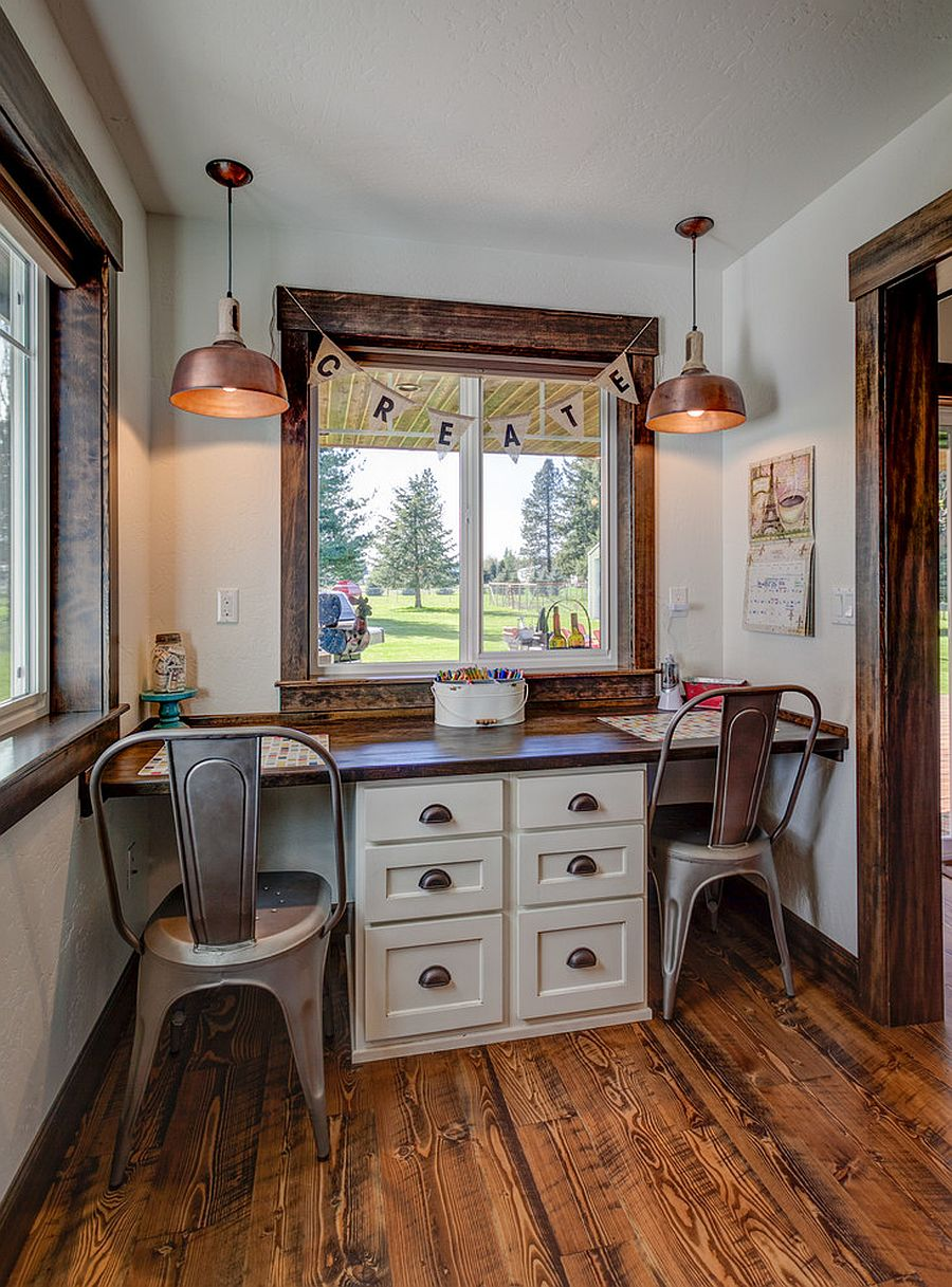 Right task lighting is a must have for the small modern home office for two