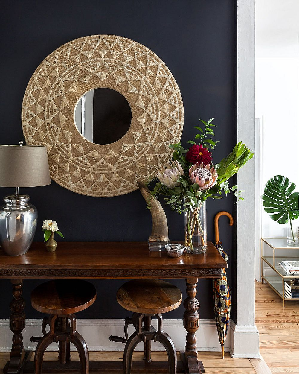 Selected vintage pieces used to decoratemodern New York home