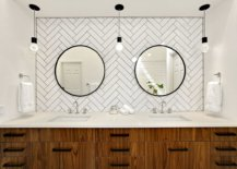 Simple-Edison-bulb-lighting-and-custom-backdrop-for-the-polished-modern-bathroom-with-walnut-vanity-34100-217x155