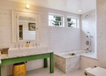 Simple-wooden-vanity-in-green-brings-color-to-this-white-bathroom-36961-217x155